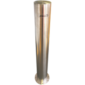 SURFACE MOUNT 168MM STAINLESS STEEL BOLLARD – 316 GRADE